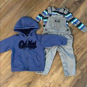OshKosh B'Gosh Baby Boy Overalls Outfit